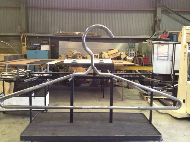 Coat hanger, Mandrel Bent, Section Rolled, Fabricated and Welded.